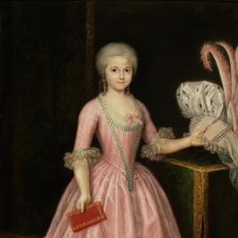 La infanta María Amalia de Borbón, joven, con un libro