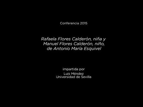 Rafaela Flores Calderón, niña y Manuel Flores Calderón, niño, de Antonio María Esquivel
