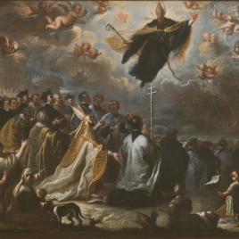 Saint Augustine vanquishing the Plague of Locusts
