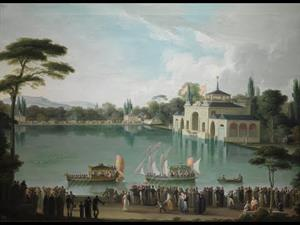 Discovering the collection: 'Royal Outing on the Large Lake in the Retiro' by José Ribelles y Helip