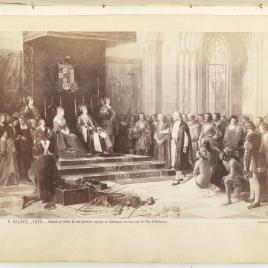 Colón recibido por los Reyes Católicos al regresar de su primer viaje a América