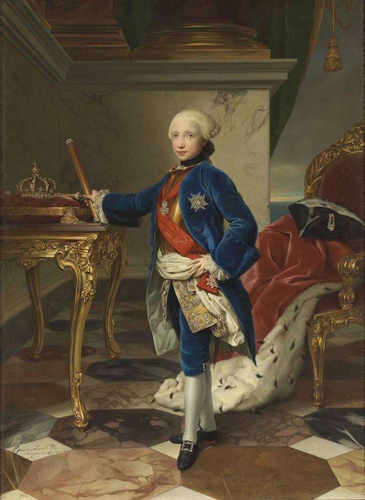 Fernando IV, rey de Nápoles, de Anton Rafael Mengs