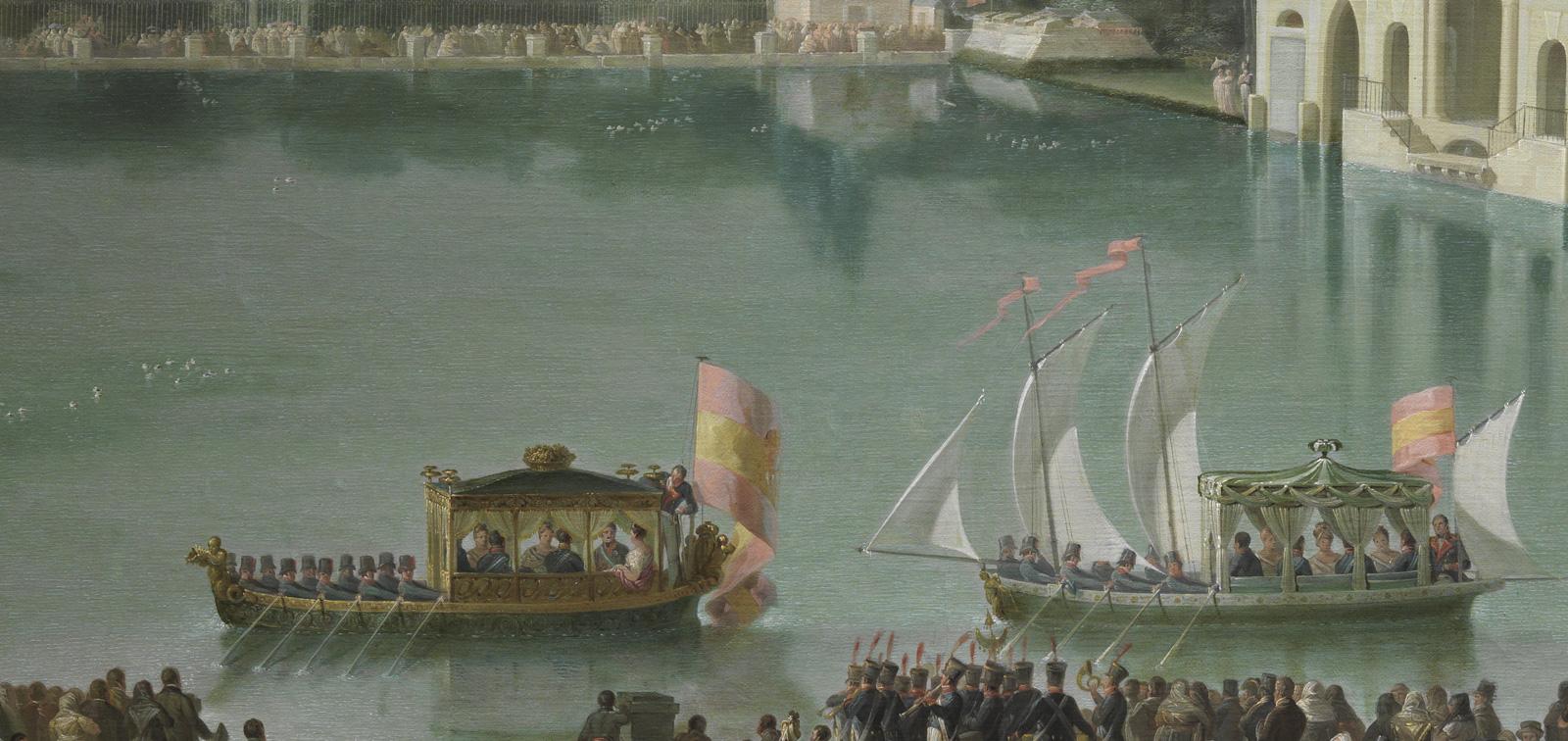 Descubriendo la Colección: <em>Embarque Real en el estanque grande del Retiro</em>, de José Ribelles y Helip