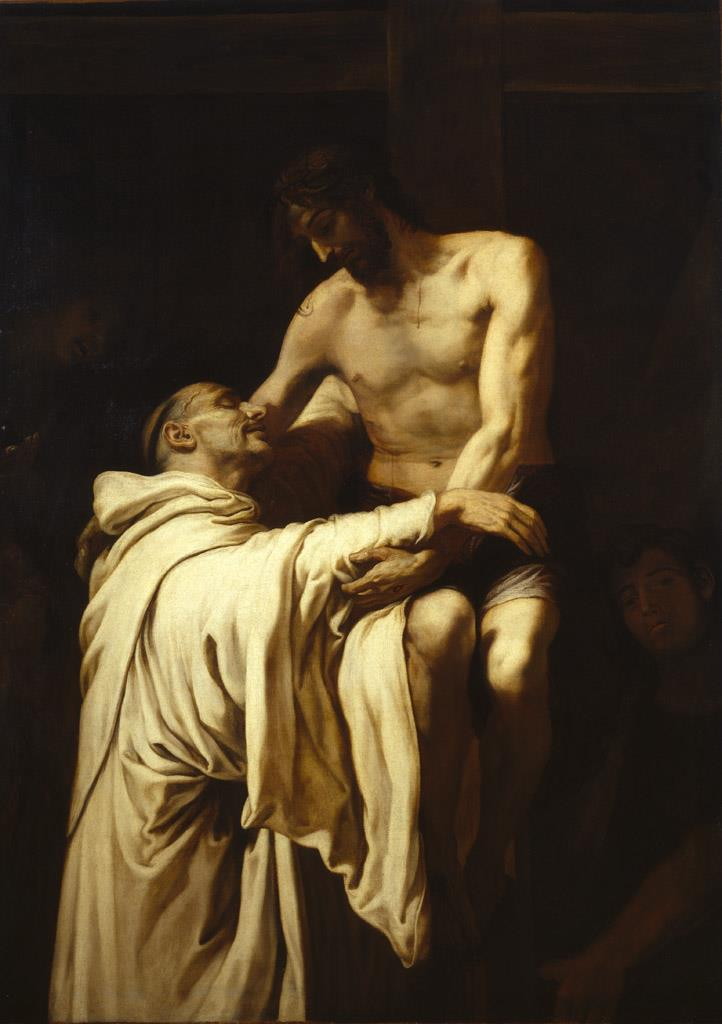 Cristo abrazando a san Bernardo [Francisco Ribalta]