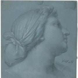 Cabeza para figura femenina