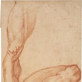 Tres estudios de un pierna derecha