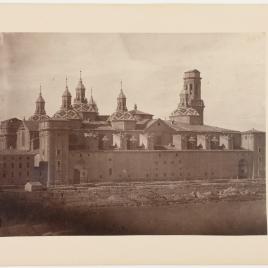 Vista posterior de la Basílica del Pilar de Zaragoza