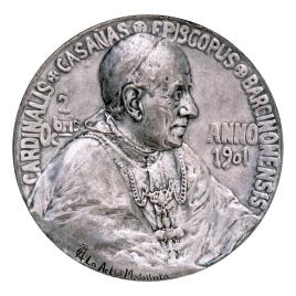 El cardenal Salvador Casañas y Pagés, en su elección como obispo de Barcelona