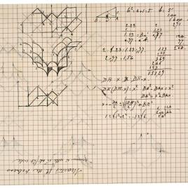 Apuntes decorativos de una cúpula de mocárabes para el tabernáculo de la Catedral de Ovido