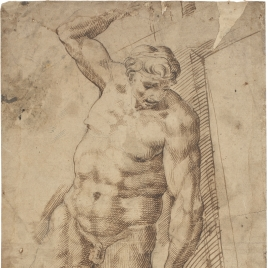 The Good Thief, Copied from Michelangelo's Last Judgement