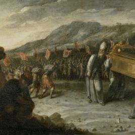 El paso del río Jordán con el Arca de la Alianza