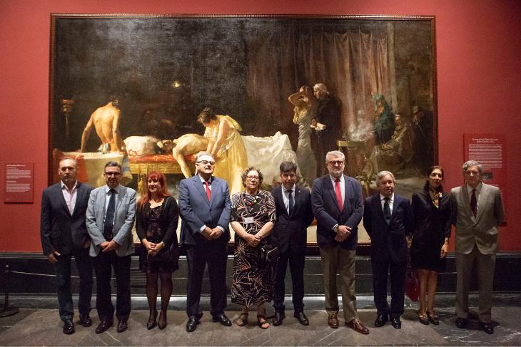 El Museo del Prado restaura La muerte de Lucano, obra del artista José Garnelo