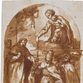La Virgen entregando el Rosario a Santo Domingo