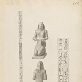 Nectanebo I, arrodillado (Sacerdote de Isis, según Ajello)
