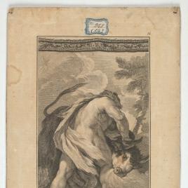 Hércules doma al toro de Creta