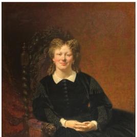 Retrato de dama francesa