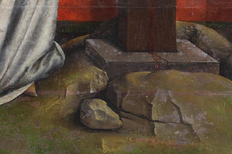<p><em>Fig.7</em>. Detalle de los daños en la base de la cruz</p>