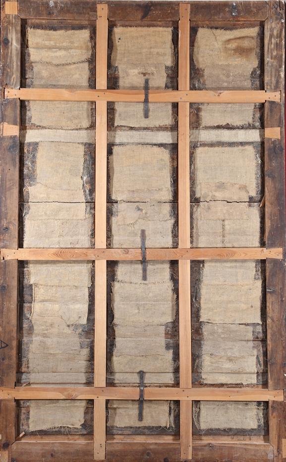 Fig.2. Fotografía del reverso de la pintura en su estado actual