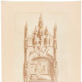 Sepulcro del arcediano Fernando Díaz de Fuentepelayo en la Catedral de Burgos