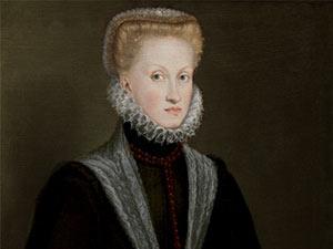 Cartelas del Retrato de la reina Ana de Austria de Sofonisba Anguissola