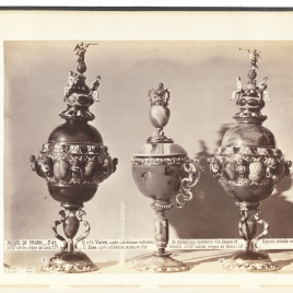 Two lost vessel with Emperors, the Virtues and Fame; Agate cup with one handle