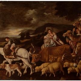 Partida de Jacob con sus rebaños