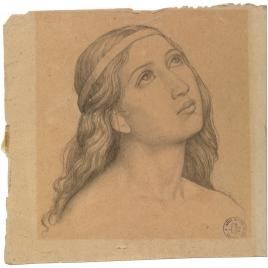 Estudio para la cabeza de un ángel (Mater Salvatoris. Capilla de las Letanías de la Iglesia de Notre Dame de Lorette, París).