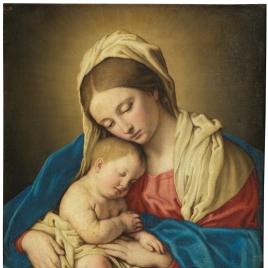 La Virgen con el Niño dormido