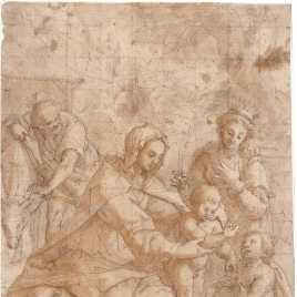 The Holy Family, with the Infant St. John the Baptist and St. Catherine