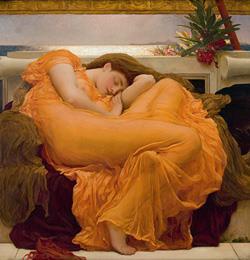 La bella durmiente. Pintura victoriana del Museo del Arte de Ponce