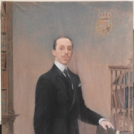 Alfonso XIII de paisano