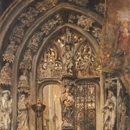 El arco del rey Casto en la Catedral de Oviedo.