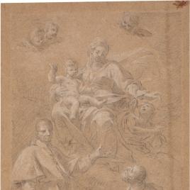 Virgen con San Carlos Borromeo y San Ignacio de Loyola