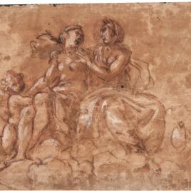 Venus y Juno sentadas sobre nubes