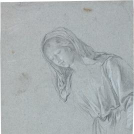 La Virgen / Fragmento de desnudo varonil