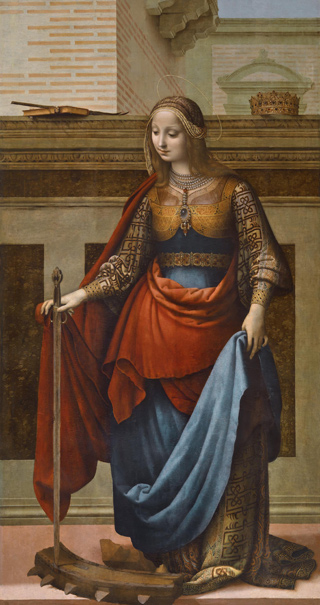 Saint Catherine (photographic reproduction)
