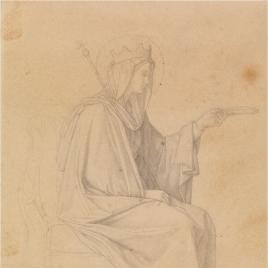 Estudio para la figura de María (Regina Virginum. Serie Capilla de las Letanías de la Iglesia de Notre Dame de Lorette, París).