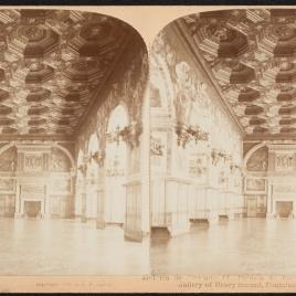 Interior de la galería de Enrique II en el palacio de Fontainebleau