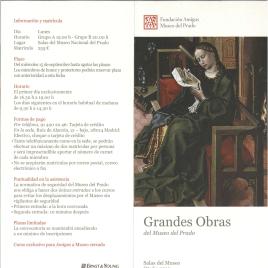 Grandes obras del Museo del Prado : otoño 2010 : ciclo de conferencias / Amigos del Museo del Prado.