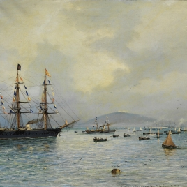 La vuelta a la patria, el día 9 de enero de 1875