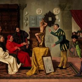 Visita del cardenal Tavera al célebre Alonso Berruguete