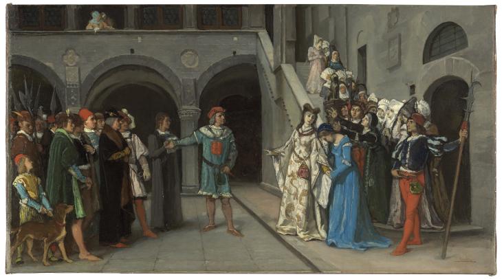 Doña Blanca de Navarra entregada al captal de Buch
