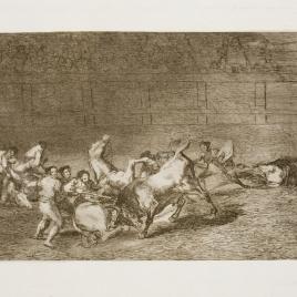 Dos grupos de picadores arrollados de seguida por un toro