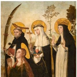 Magdalena, Pedro de Verona, Catalina de Siena y Margarita de Hungría