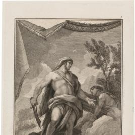 Hércules mata la Hidra de la Laguna Lernea