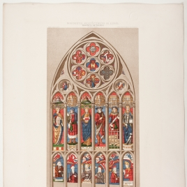 Vidriera de la nave central de la Catedral de Toledo