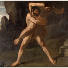 Hercules fighting with Antaeus