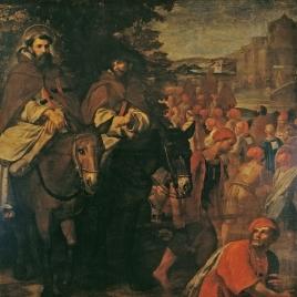 Regreso de San Juan de Mata con los esclavos liberados en Túnez