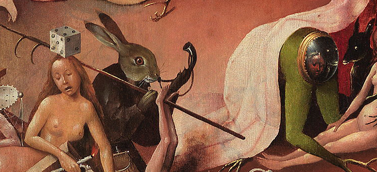 2. Un conejo del Jardín de las delicias