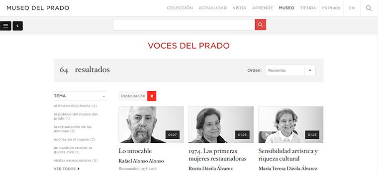 6. Trabajadores del Prado: Restauración